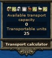 Transport calculator